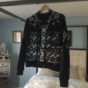 Elie Tahari Jackets & Coats - EUC Elie Tahari Gorgeous Silk Lace Open Track Sm